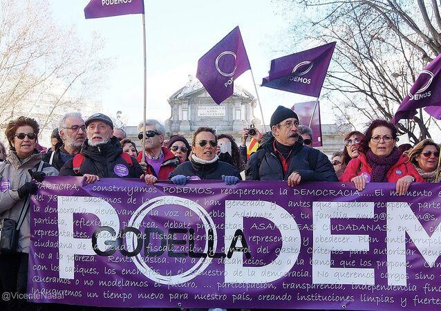 Manifestazione del partito Podemos