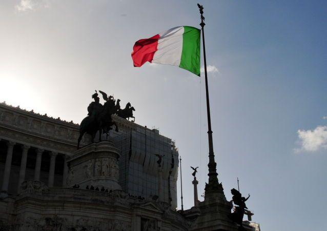 Bandiera italiana, il Vittoriano