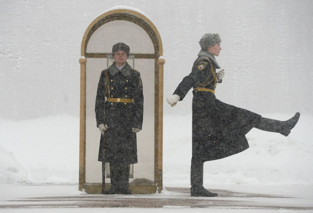 L'inverno vero è di casa a Mosca.