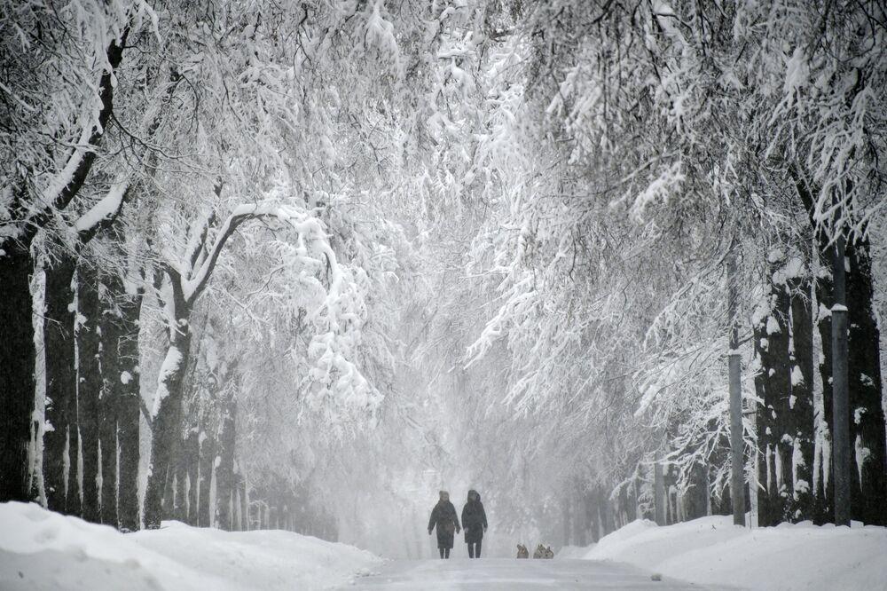 La nevicata a Mosca.