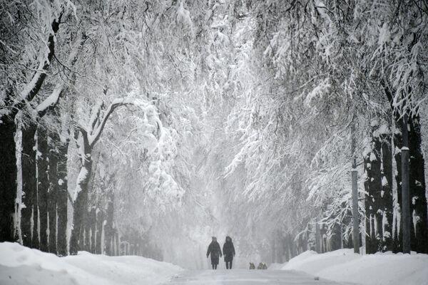 La nevicata a Mosca. - Sputnik Italia