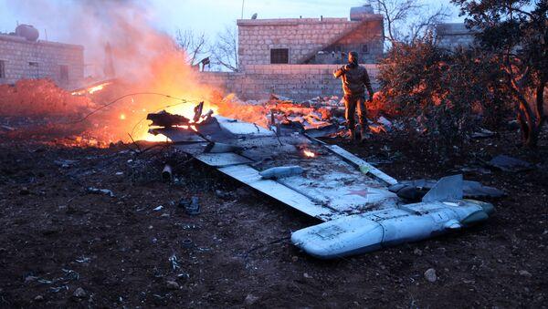 Сбитый российский самолет Су-25 в Сирии - Sputnik Italia