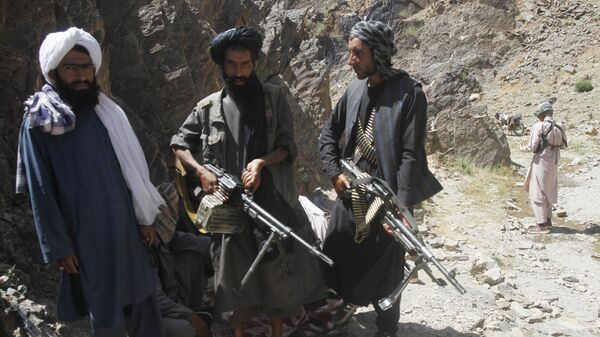 Members of a breakaway faction of the Taliban fighters guard during a patrol in Shindand district of Herat province, Afghanistan (File) - Sputnik Italia