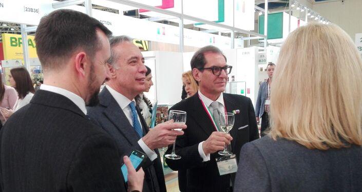 Il nuovo Ambasciatore d'Italia in Russia Pasquale Terracciano e il direttore dell'Agenzia ICE, Pier Paolo Celeste
