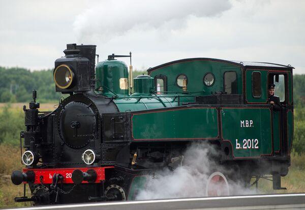 Una locomotiva della serie M. 2012 durante il forum ferroviario EXPO 1520 a Mosca. - Sputnik Italia