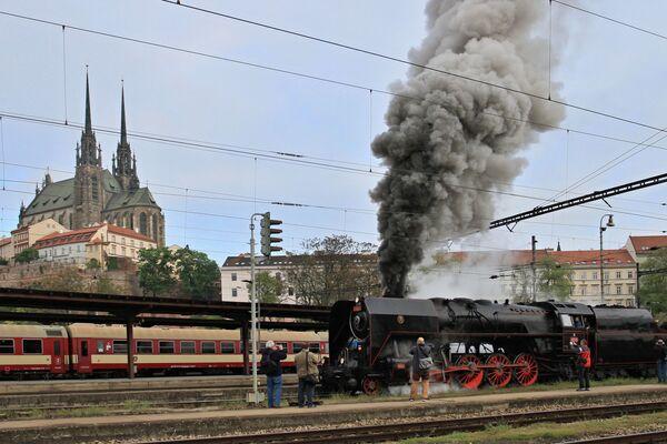 Una locomotiva Slechticna alla stazione di Brno, Repubblica Ceca. - Sputnik Italia