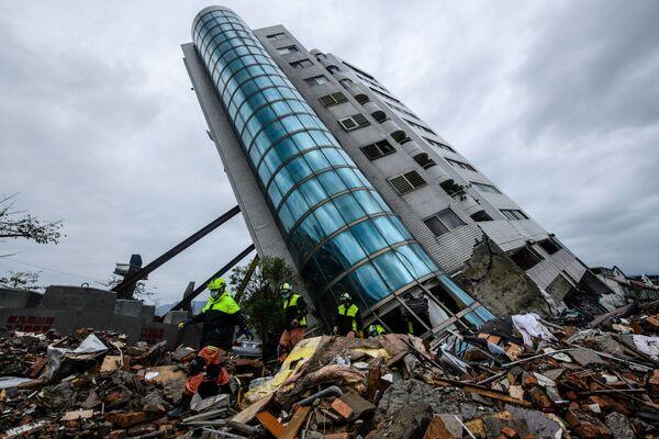 Le conseguenze del terremoto in Taiwan. - Sputnik Italia