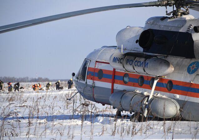 Il luogo dello schianto del An-148