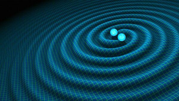 An artist's impression of gravitational waves generated by binary neutron stars - Sputnik Italia