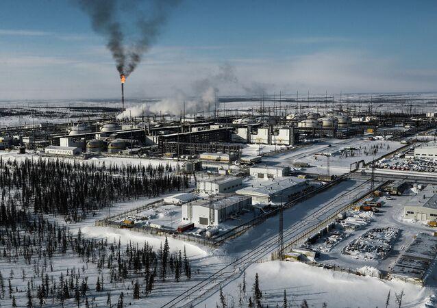 Vankor oil and gas field in Krasnoyarsk Territory