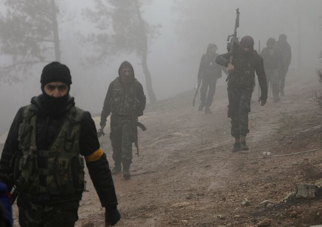 Turkish-backed Free Syrian Army fighters are seen near Mount Barsaya, northeast of Afrin, Syria January 23, 2018