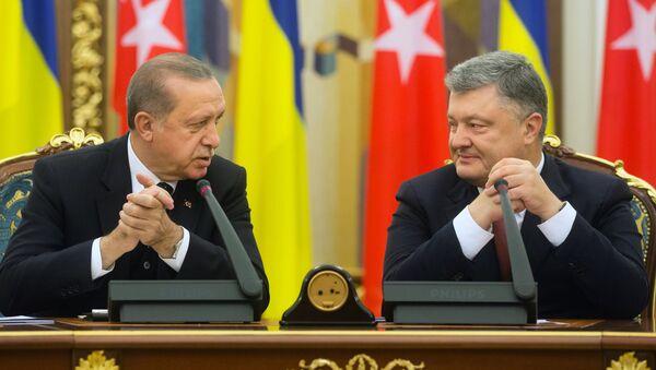 L'incontro tra Petro Poroshenko e Recep Tayyip Erdogan - Sputnik Italia