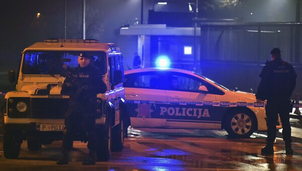 Полиция у посольства США в Подгорице, Черногория - Sputnik Italia