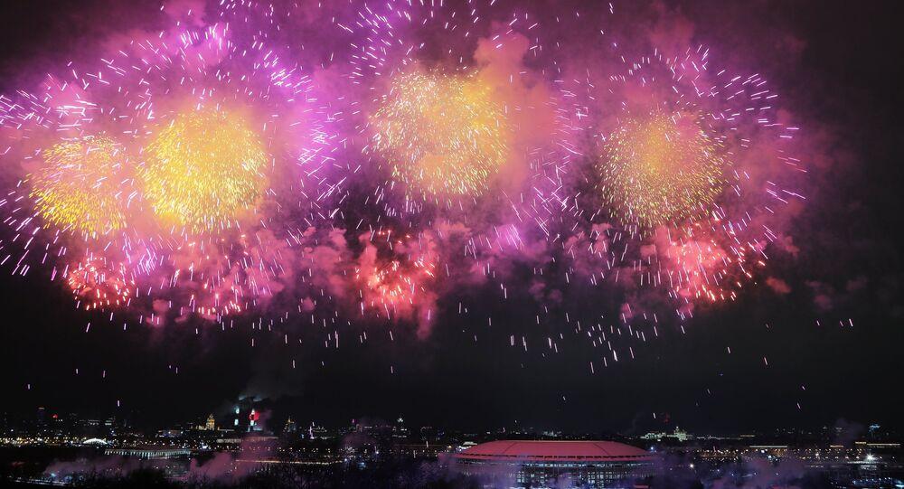 Fuochi d'artificio per i 100 anni dell'Armata Rossa