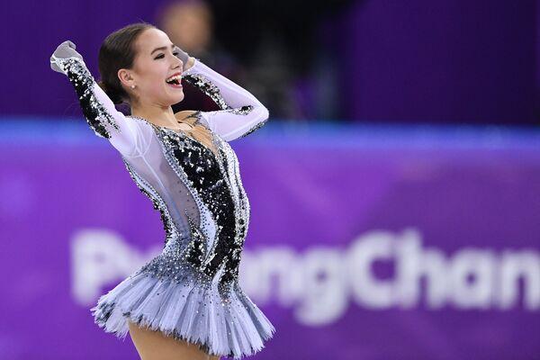 La figurista russa Alina Zagitova a Pyongchang 2018. - Sputnik Italia