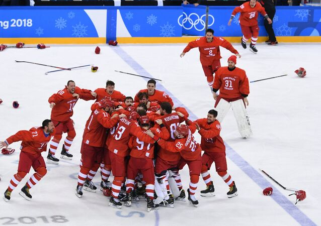 Vittoria della Russia nella finale olimpica di hockey