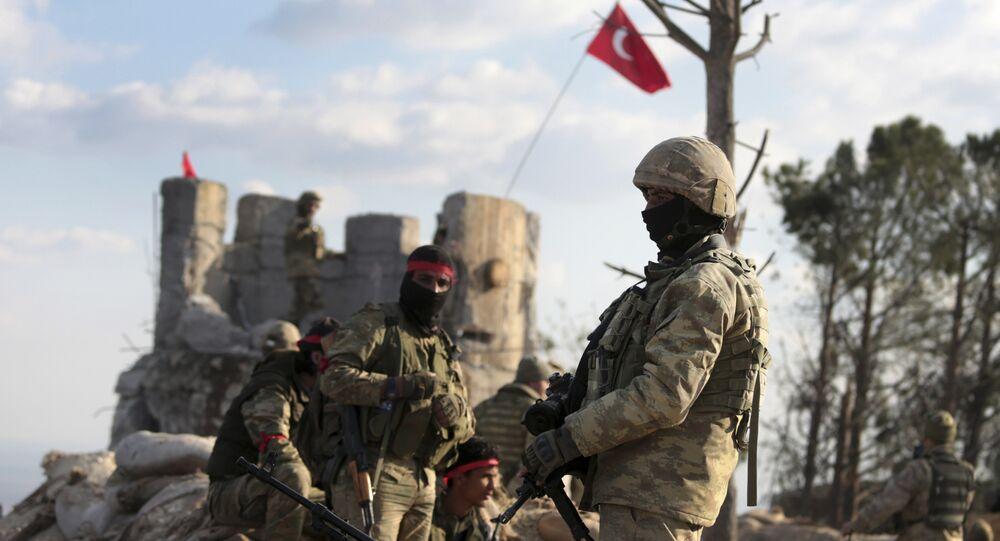 Forze turche in Siria sul fronte di Afrin