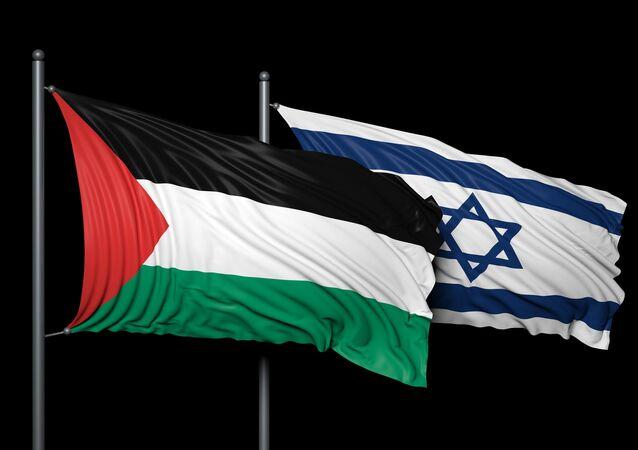Bandiere di Israele e Palestina