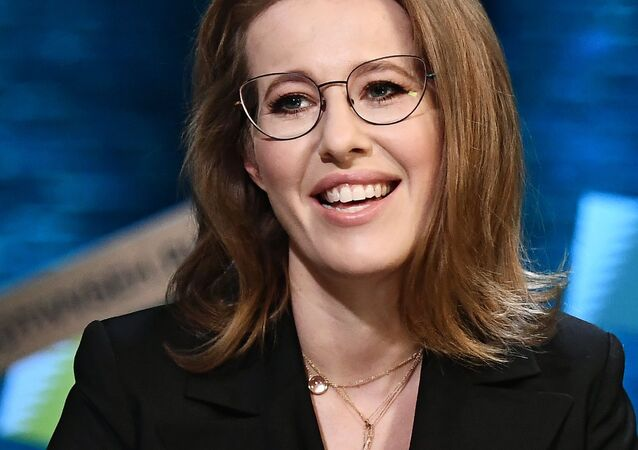 La candidata alla presidenza Ksenia Sobchak