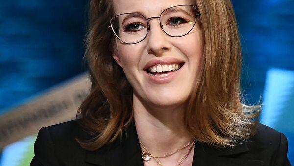 La candidata alla presidenza Ksenia Sobchak - Sputnik Italia