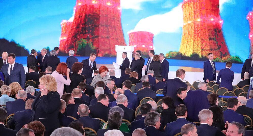 Il discorso del presidente russo Vladimir Putin all'Assemblea Federale.