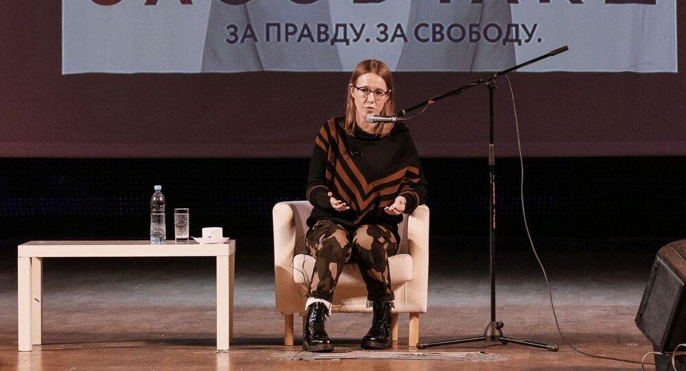 Kseniya Sobchak, candidata presidenziale per le elezioni 2018 in Russia