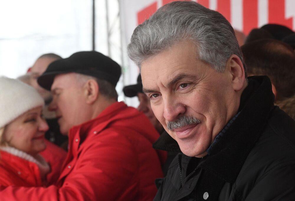 Pavel Grudinin, candidato alle presidenziali 2018.