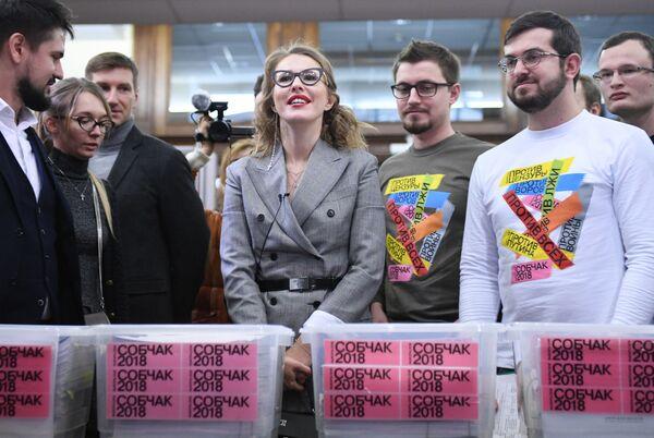 La candidata alle presidenziali dal partito Iniziativa civile Ksenia Sobchak. - Sputnik Italia