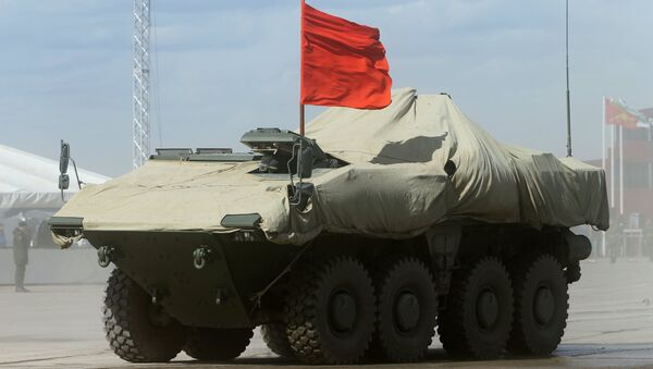 A Bumerang (Boomerang) wheeled armored personnel carrier during the rehearsal of the Victory Day Parade in the Moscow Region - Sputnik Italia