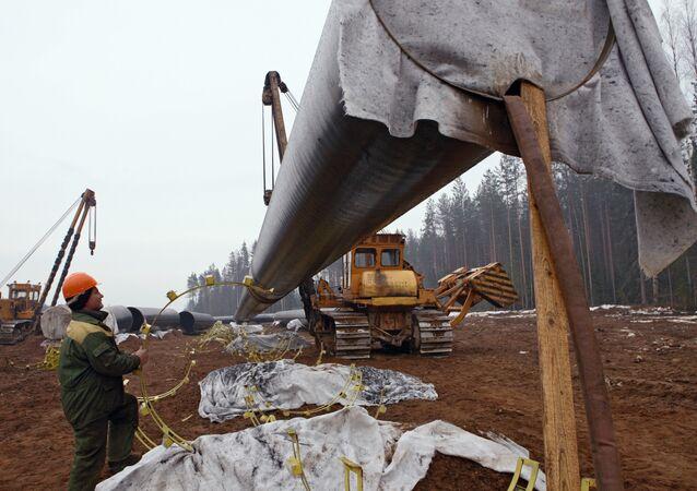 Lavori di costruzione Nord Stream (foto d'archivio)
