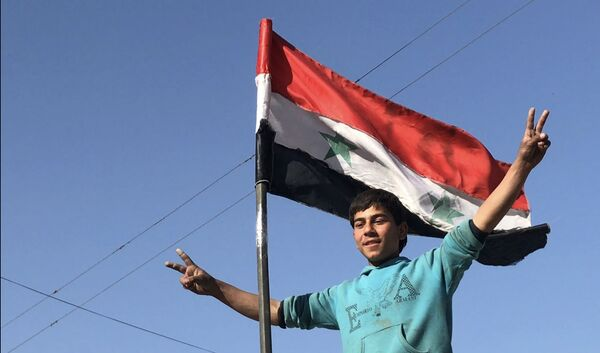 La liberazione di Kafr Batna nella Goutha occidentale - Sputnik Italia