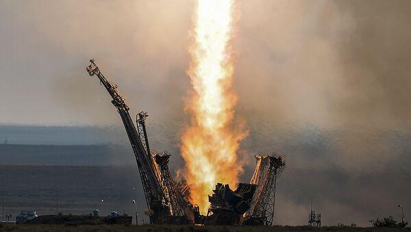 Lancio della navicella Soyuz-FG dal cosmodromo Baikonur - Sputnik Italia