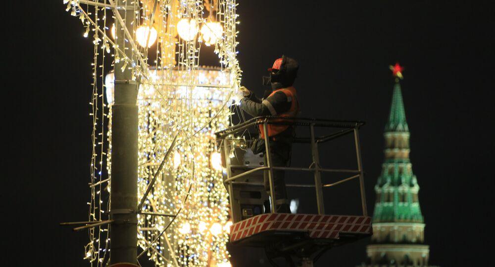 Mosca, lavori di manutenzione all'illuminazione