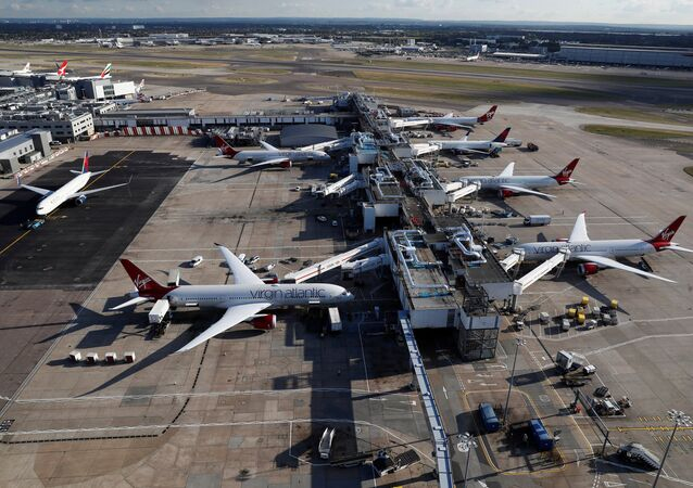 L'aeroporto di Heathrow vicino Londra