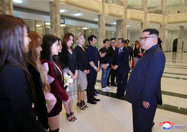 Kim al concerto delle star sudcoreane