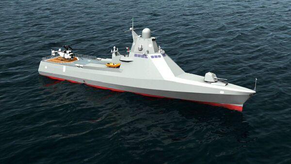 Modello della nave del progetto 22160 Viktor Vekily - Sputnik Italia