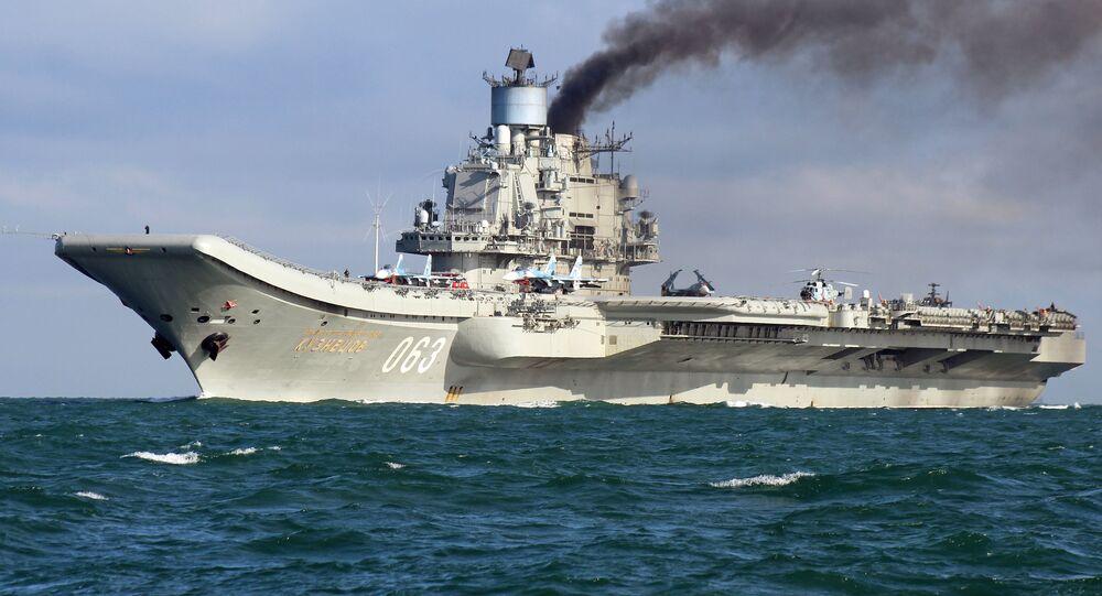 La portaerei Admiral Kuznetsov