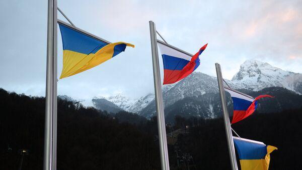 Le bandiere dell'Ucraina e della Russia - Sputnik Italia