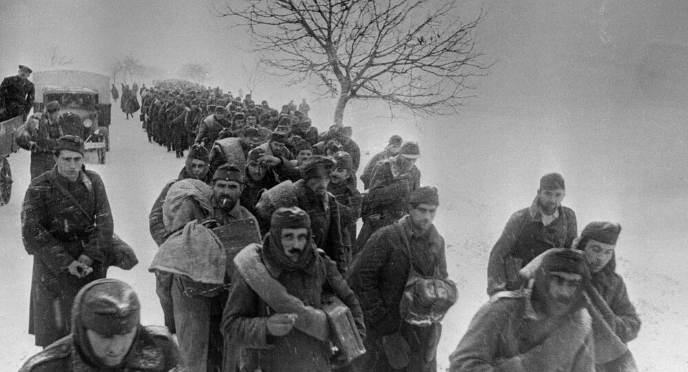 Prigionieri delle forze dell'Asse sotto Stalingrado - 1943