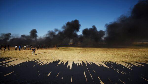 Scontri al confine tra la striscia di Gaza e Israele. - Sputnik Italia