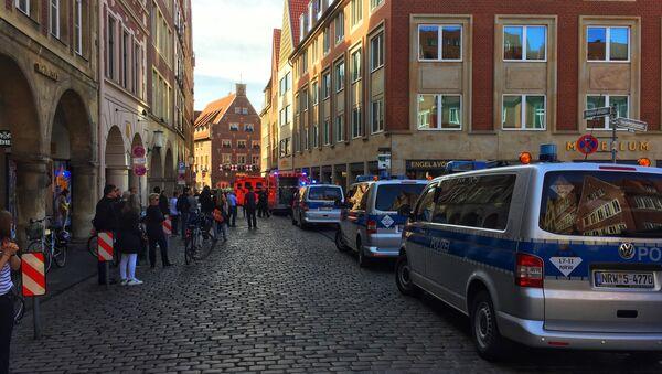 la situazione a Muenster, Germania, dove un camion ha investito un gruppo di persone. - Sputnik Italia