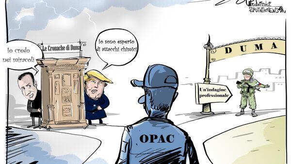 La Russia è pronta a cooperare per l'organizzazione di una missione OPAC (Organizzazione per la proibizione delle armi chimiche) nella città siriana di Duma. - Sputnik Italia