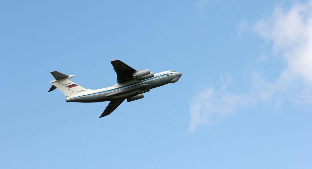 Un aereo militare Il-76 (foto d'archivio)