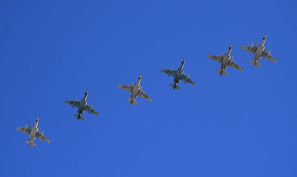 Le prove del segmento aereo della Parata del 9 maggio