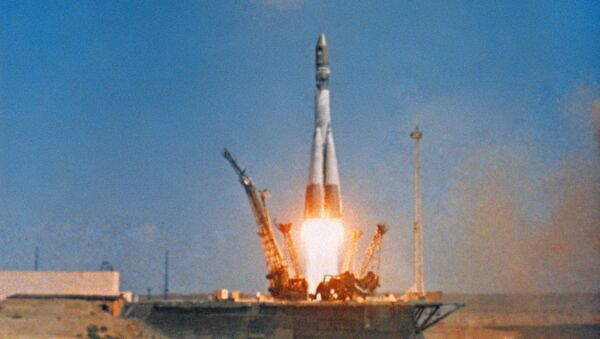 La partenza del razzo-vettore Vostok a bordo del quale, sulla navetta Vostok-1 volò nello spazio Yuri Gagarin - Sputnik Italia