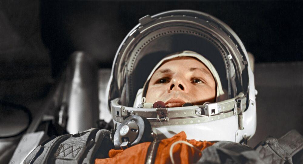 Yuri Gagarin prima del volo nello spazio del 12 aprile 1961