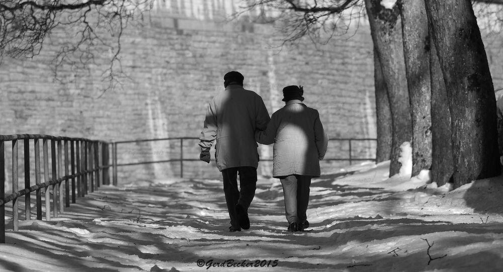 Una coppia anziana