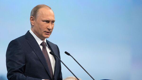 Presidente Putin al XIX Forum economico di San Pietroburgo - Sputnik Italia