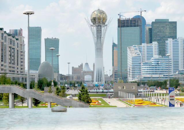 Una vista di Astana, la capitale del Kazakistan.
