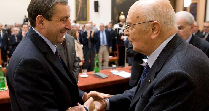 Giorgio Napolitano con Francesco Profumo